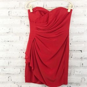 NWT Parker Silk Strapless Dress (slight spot)